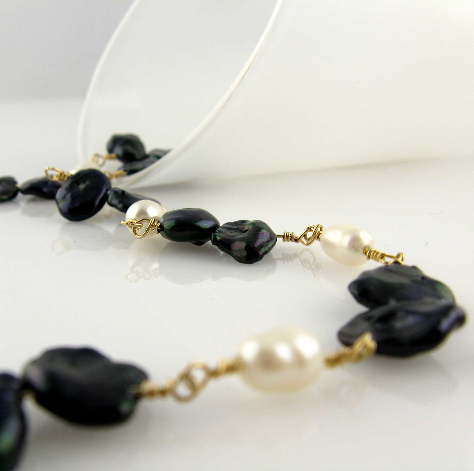 hawaiian black lvw page collection jewelry pearl pearls island necklace