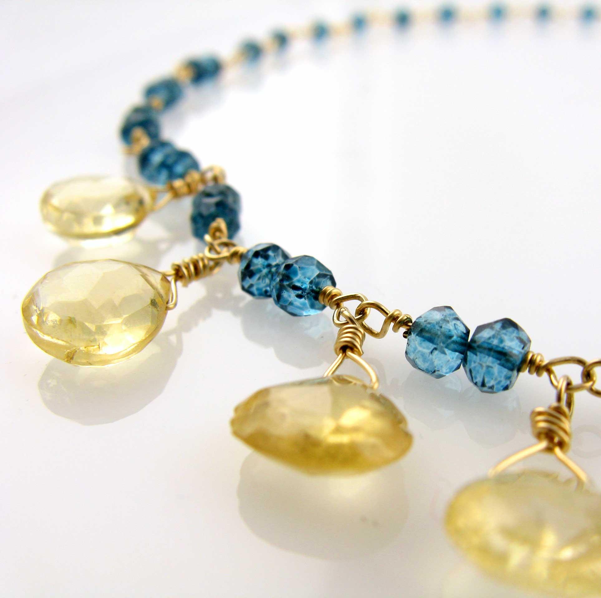 White Cloud Creations: Mediterranean Blue Quartz Necklace with ...